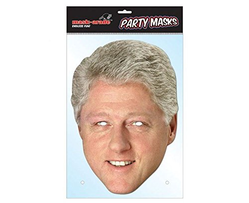 Maskarade Official Bill Clinton US President Cardboard Face Mask -