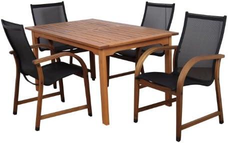 Amazonia Bahamas 5-Piece Eucalyptus Rectangular Dining Set