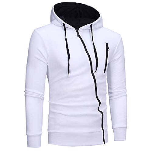 Mens Sexy Fashion Hooded Sweatshirt Slim Fit Lightweight Active Hoodies Tracksuits Tops with Zipper