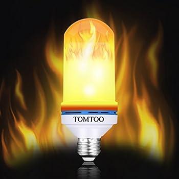 WEBSUN Flickering Light Bulbs 3 Modes Led Flame Effect