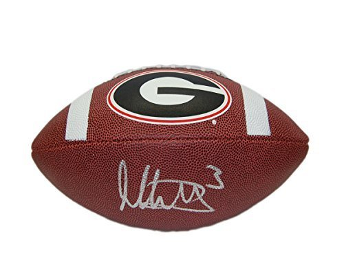 Todd Gurley Hand Signed / Autographed Georgia Bulldogs Logo Football Brown