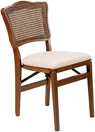 Stakmore French Cane Back Folding Chair Finish, Set of 2, Cherry