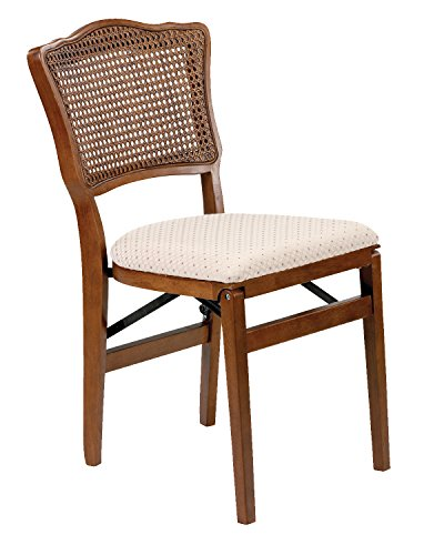 Stakmore French Cane Back Folding Chair Finish, Set of 2, - Folding Chairs Cane Back