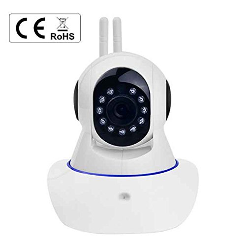 Telecamera IP WIFI, dispositivo mobile 720p telecamera IP wireless Baby monitor video Pet rete 2telecomando View Push Notification IR-Cut bidirezionale audio WiFi telecamera IP Sonic riconoscimento