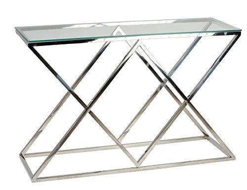 Cortesi Home Gwen Contemporary Glass Console Table