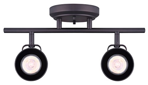 CANARM IT622A02ORB10 LTD Polo 2 Light Track Rail, Oil Rubbed Bronze with Adjustable Heads
