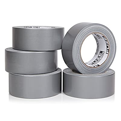 NEW: Heavy Duty Silver Duct Tape - 5 Roll Multi Pack Industrial Lot – 30 yards x 2 inch wide – Large Bulk Value Pack of Grey Original Extra Strength, No Residue, All Weather. Tear by Hand