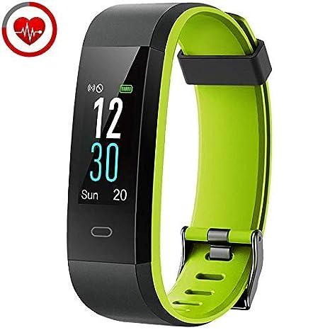 yamay Reloj Fitness Tracker Pulsómetro de pulsera Smartwatch ...