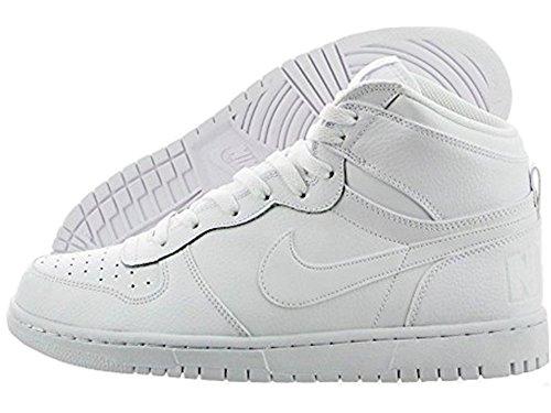 Nike Menns Store Nike Høy Basketball Sko 336608-119 Hvit / Hvit-svart