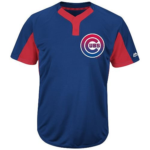- Majestic Blank Back Adult XL Chicago Cubs 2-Button Placket Cool-Base MLB Licensed Jersey