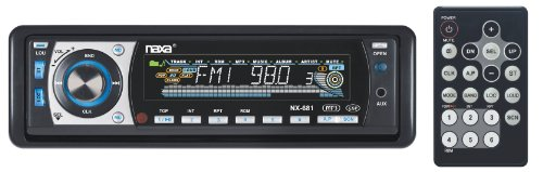 Naxa Fold Down Full Detachable PLL Electronic Tuning Stereo AM/FM Radio MP3/CD Player with Remote Control and Aux-in Jack
