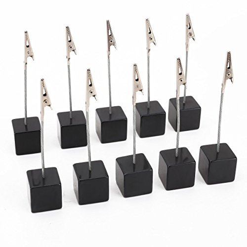 NUOLUX 10pcs Memo Clip Holder Stand with Alligator Clasp for Pictures Card Paper Note Clip ()