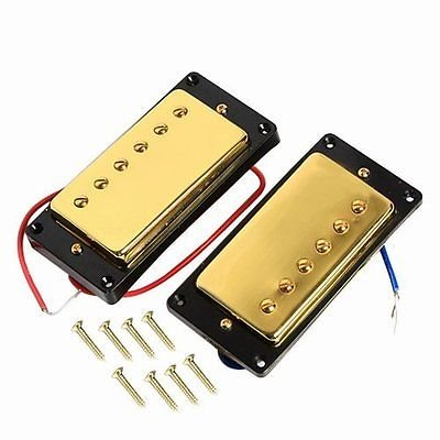 (1set Humbucker Pickup Gold for Gibson Les Paul Replacement New)