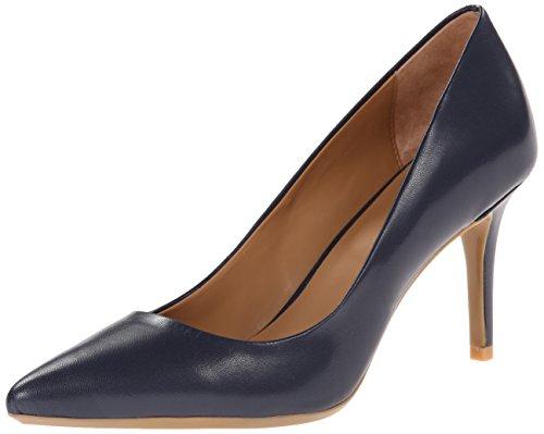 Calvin Klein Women's Gayle Dress Pump, Navy Leather, 6 M US (Calvin Leather Pumps)