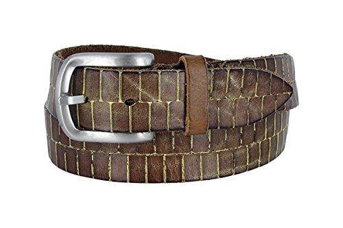 Hagora Men Real Italian Leather Lasered Crocodile Motif 1-1/2