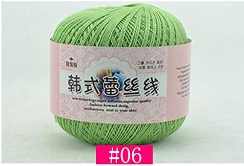 LY 50 g//gomitolo di cotone pettinato 2 strati medio sottile 0,8 mm filo di cotone 100/% cotone uncinetto per cucito a mano 10
