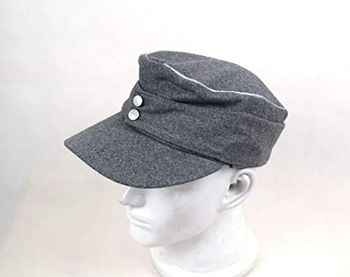 Replica WWII German M43 Officer WH EM field Panzer Wool Cap Hat Grey 57 58 59 60cm (59cm) ()