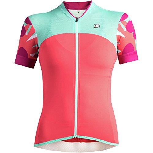 Giordana Lungo Short-Sleeve Jersey - Women's Pink/Aqua, M