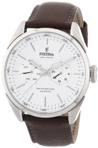Festina Herren-Armbanduhr Analog Quarz Leder F16629-1