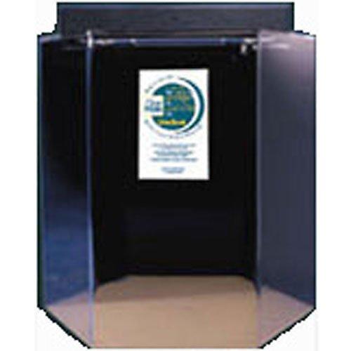 Acrylic Hexagon Aquarium 35 Gallon Blue by Advance Aqua Tanks