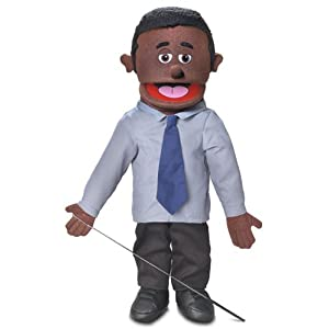 "25"" Calvin, Black Dad / Businessman, Full Body, Ventriloquist Style Puppet - 41 2BUPDX YYL - 25″ Calvin, Black Dad / Businessman, Full Body, Ventriloquist Style Puppet"