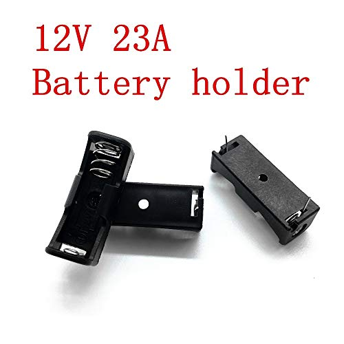 Gimax 10PCS 12V 23A Cells Battery holder.A23 12V Clip Holder Box Case,Doorbell Remote control battery Connectors