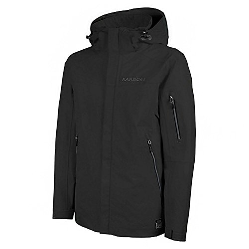 (KARBON McKinley Mens Shell Ski Jacket - X-Large/Black-Black-Red)