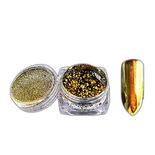 Shimmer Mermaid Pearl Powder Mirror Effect Chrome Pigment Shining Shimmer Nail Glitter (F) (Pc Powder Checker)