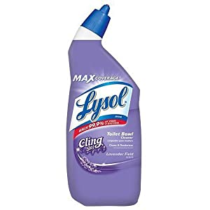 2 x Lysol Cling Gel Toilet Bowl Cleaner, Lavender 24 oz (709 ml)