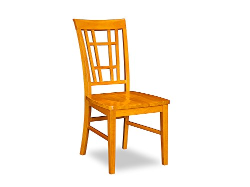 Montego Bay Dining Chairs Set of 2 with Wood Seat, Caramel Latte ()