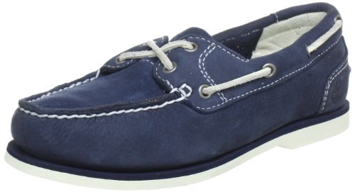Navy Buffed para Classic Azul Mujer Barco Timberland Unlined Barefoot Zapatos del FOWU4q