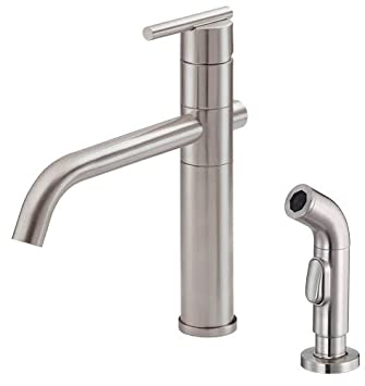 Danze D405558ss Parma Single Handle Kitchen Faucet With Side Spray