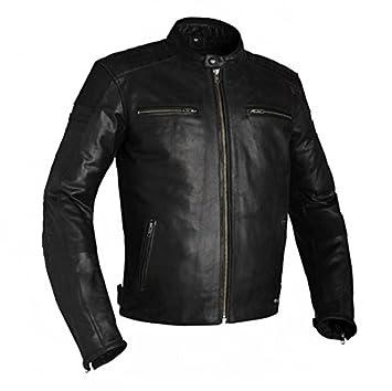 Chaqueta para moto, cuero, color negro, de Richa Daytona: Amazon.es: Coche y moto