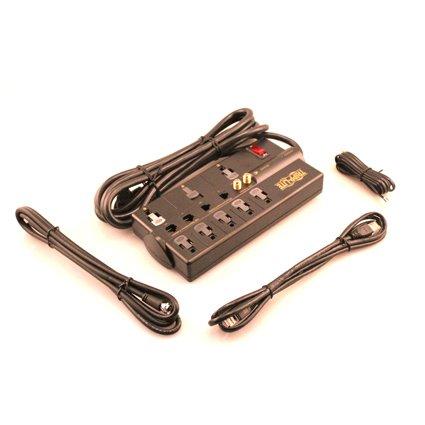 037332095329 - Tripp Lite 8 Outlet Surge Protector Power Strip, 10ft Cord Right Angle Plug, Tel/Modem/Coax/Ethernet, & $250K INSURANCE (TLP810NET) carousel main 1