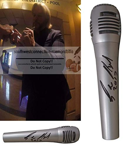 Craig Wayne Boyd Signed Hand Autographed Microphone with Exact Proof Photo of Craig Signing the Mic, The Voice Season 7 Winner, C-W-B, I Ain't No Quitter, My Baby's Got A Smile On Her Face, COA