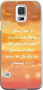 Case for S5 christian lyrics,Samsung Galaxy S5 Case Bible Verses Quotes Now Faith Is Confidence In What We Hope For And Assurance About What We Do Not See. -Hebrews 11:1 by runtopwell