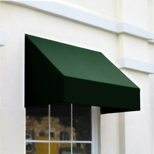 Awntech 6-Feet New Yorker Window/Entry Awning, 44 by 36-Inch, Forest Green
