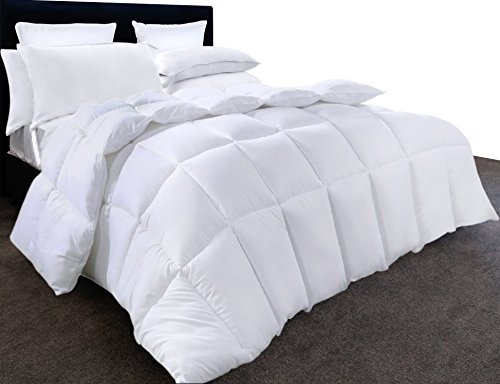 Utopia Bedding Comforter Duvet Insert - Quilted Comforter together with Corner Tabs - Hypoallergenic, Box Stitched lower option Comforter (Queen, White)