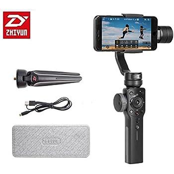 Zhiyun Smooth 4 Estabilizador de enfoque de 3 ejes para Smartphone con capacidad de zoom y timelapse/PhoneGo/carga bidireccional para iPhone X 8 7 6 Plus para Samsung Galaxy S8 S7 S6 s5