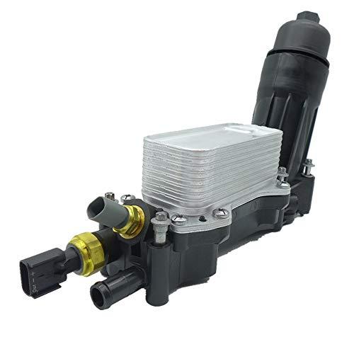 (Engine Oil Filter Adapter Housing,Oil Cooler for 2014-2017 Jeep Dodge Chrysler Ram 3.6 V6 68105583AF )