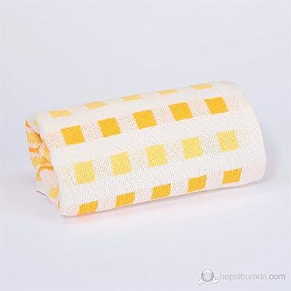 Serra Home Hotel y Spa Linyi mano toalla de cara – amarillo suave algodón turco toalla