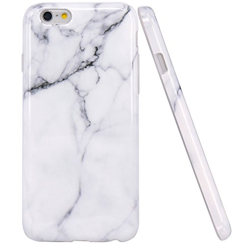 iPhone 6 Case, iPhone 6S Case, JAHOLAN White Marble Design Slim Shockproof Flexible Smooth TPU Soft Case Rubber Silicone Skin Cover for Apple iPhone 6 - Skin Case Rubber
