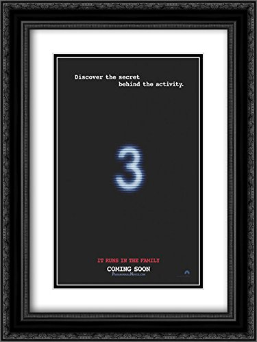 Paranormal Activity 3 18x24 Double Matted Black Ornate Framed Movie Poster Art Print by ArtDirect