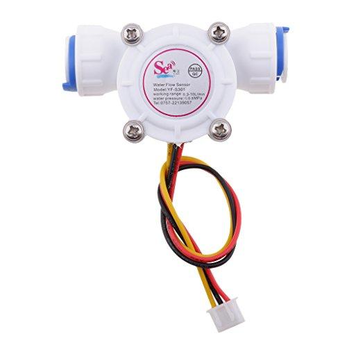 MagiDeal Control de Agua de Sensor de Flujo de Pasillo de 3/8' Flujómetro de Flujo de Agua 0.3-6l/Min