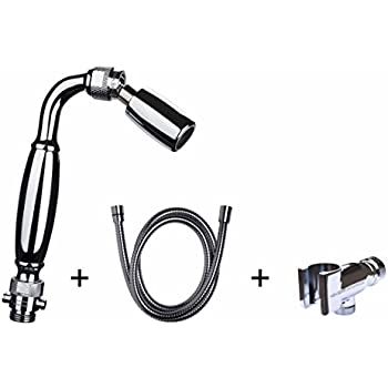 High Sierra's Solid Metal Handheld Shower Head Kit. Includes Handheld Shower Head, Trickle Valve, 72-Inch Hose with Silicone Inner Tube, and Holder. Low Flow 1.8 GPM. Stunning Chrome Finish