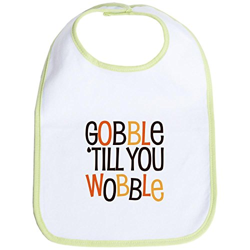 unny Gobble Til You Wobble Bib - Cute Cloth Baby Bib, Toddler Bib ()