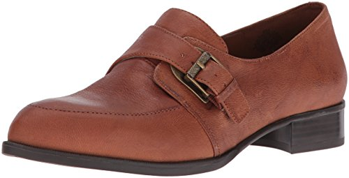 De Norella Lederen Slip-on Loafer Cognac Van West Dames