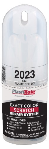 Flame Red Clear Coat (PlastiKote 2023 GM Flame Red Base Coat Scratch Repair Kit with 2-in-1 Applicator Pen)