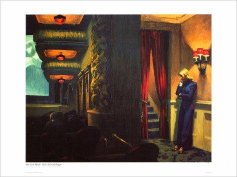 E Edward Hopper York Movie Modern Realist Decorative Art Poster Print (24X32 UNFRAMED)