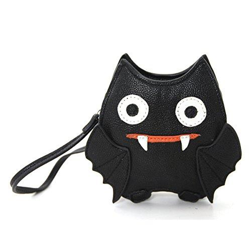 Sleepyville Critters Bat Small Coin Purse Zippered Pouch - Halloween Purses